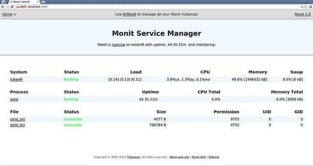 monitによるサービス監視