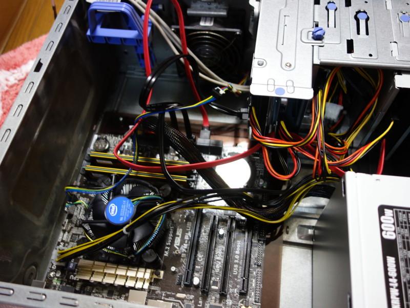 IBMのx3105中身総入れ替え!古くなったメーカー製PCを自作機にする_39
