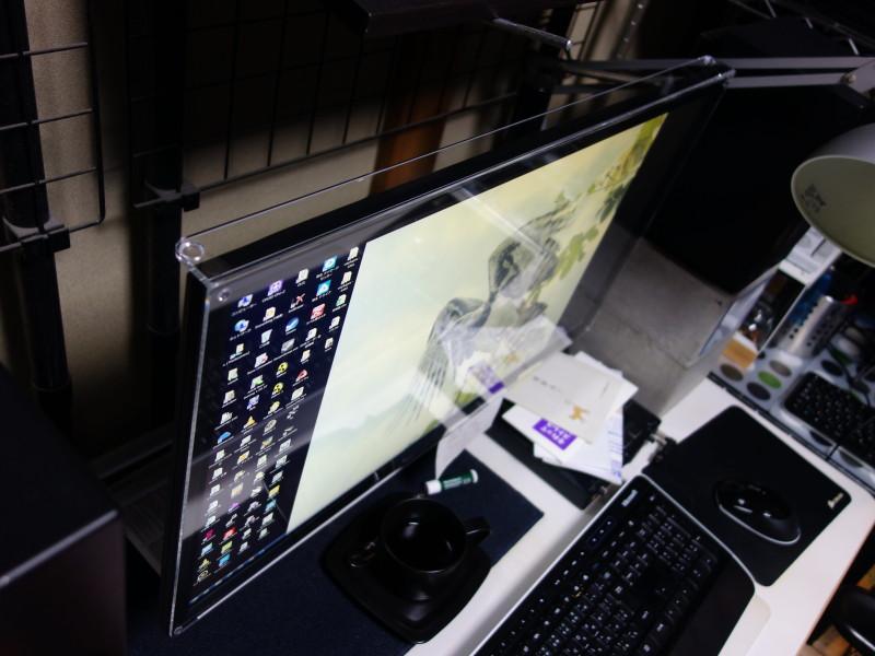 液晶ディスプレイぴったりのオーダーメイド保護パネルを買いました。(LCD-M4K281XB)