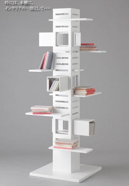 猫階段のような本棚